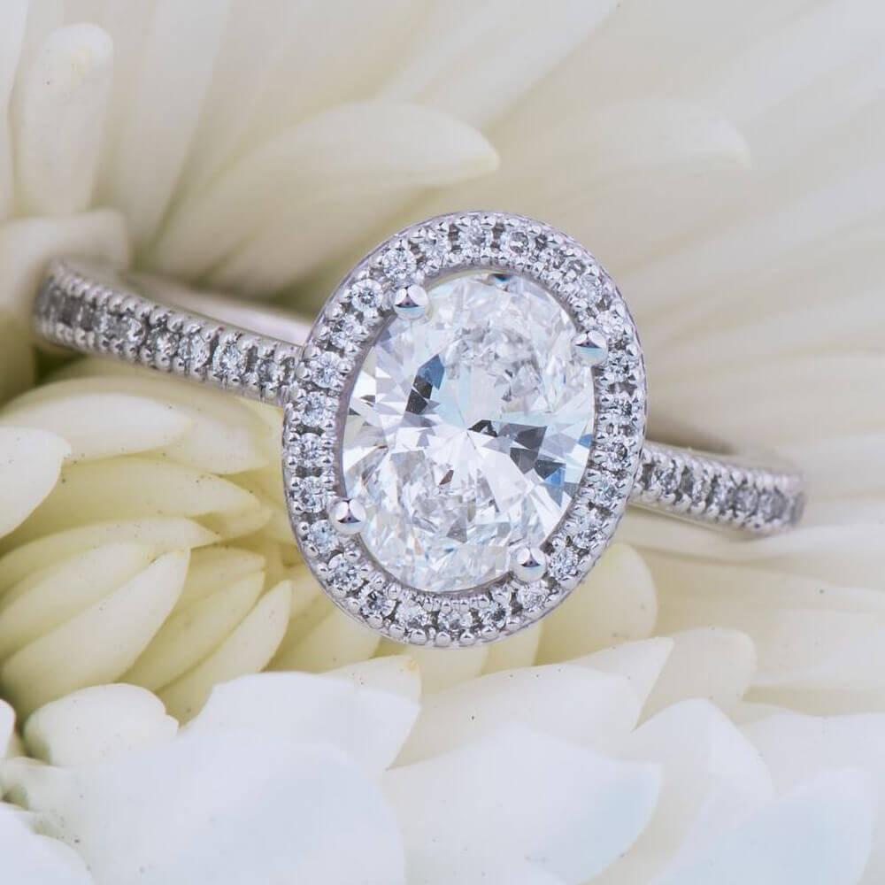 diamond ring on flowers