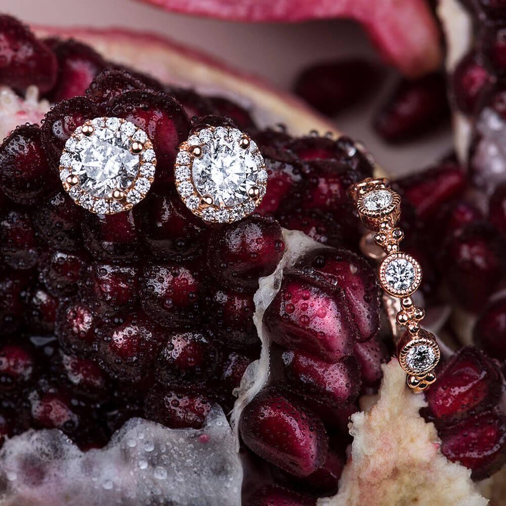 diamonds on fruit
