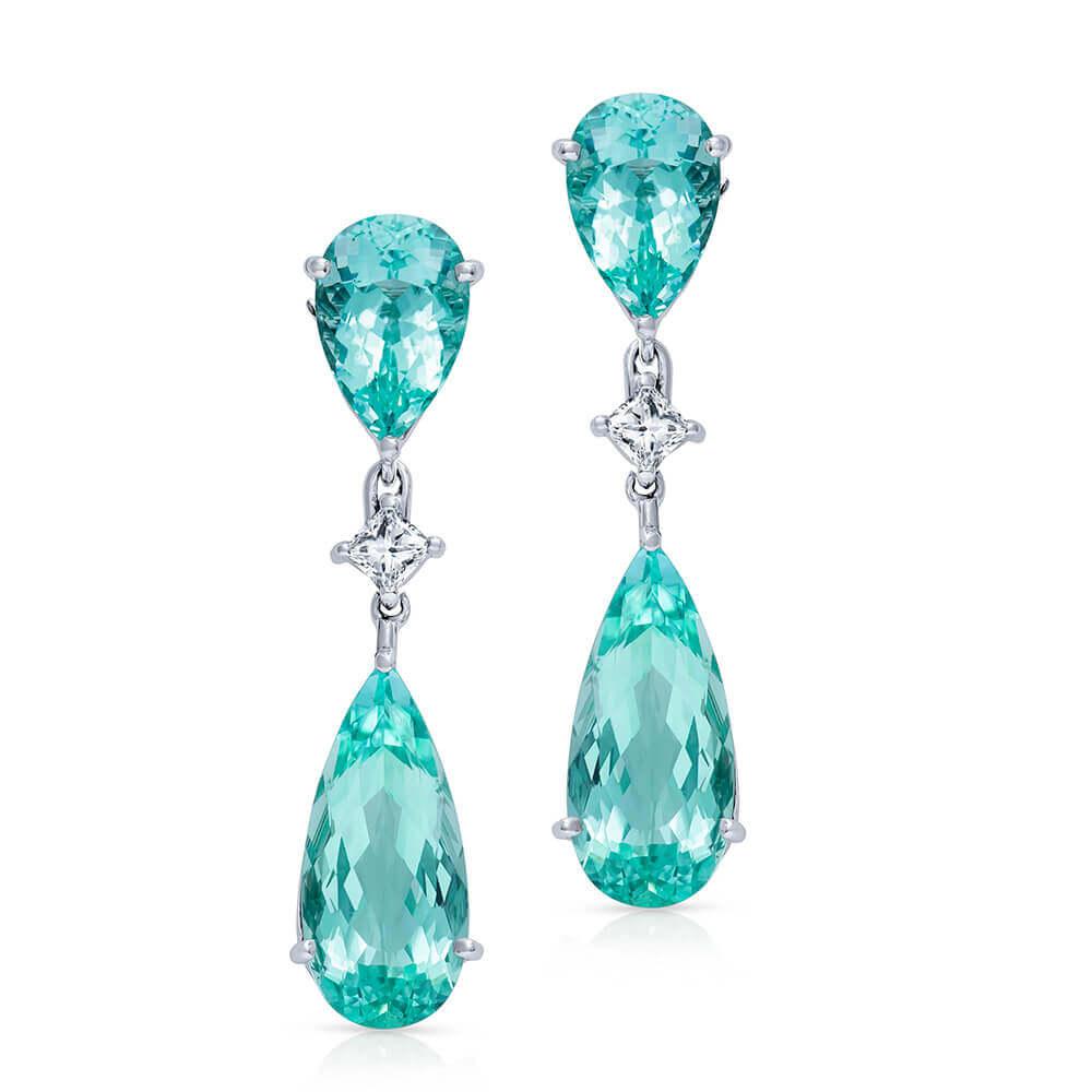 diamonds and gemstones earrings